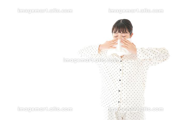 花粉症の女性の販売画像