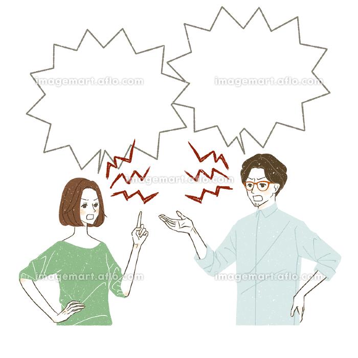 言い争いをしている男女の販売画像