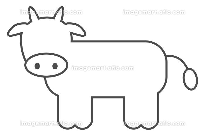 牛アイコンのベクター素材の販売画像