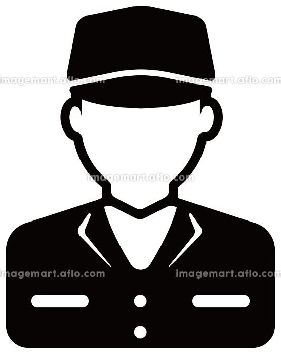 労働者アイコンイラスト / 配達員・作業員・工場作業者の販売画像
