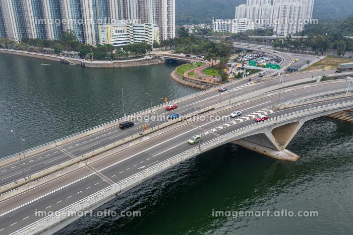 Sha Tin, Hong Kong 17 March 2019: Hong Kong highway pass the river