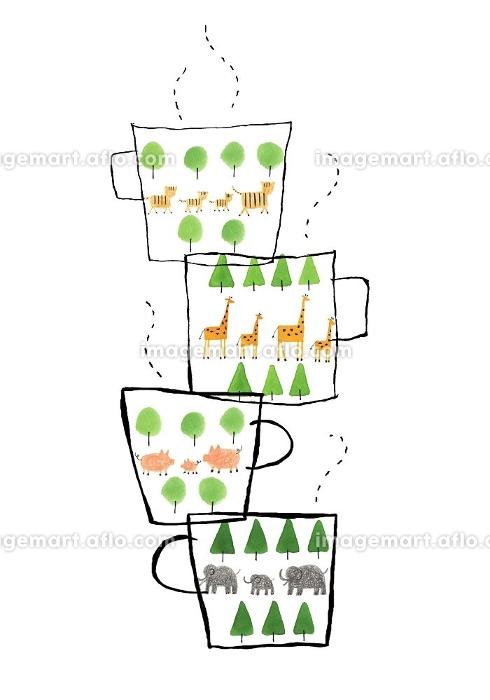 動物柄のマグカップの販売画像