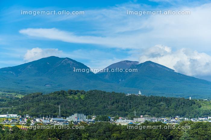 浅間山と小諸市街の販売画像