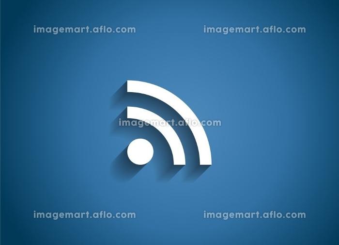 Wi-Fi Glossy Icon Vector Illustration on Blue Background. EPS10. Wi-Fi Glossy Icon Vector Illustrationの販売画像