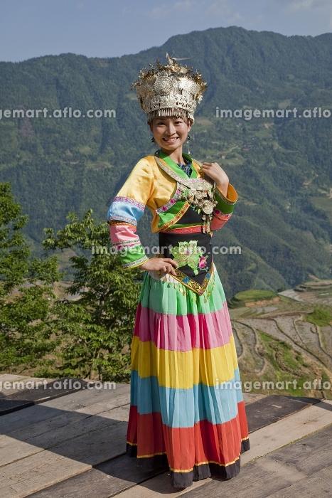 中国 桂林郊外 少数民族の女性の販売画像