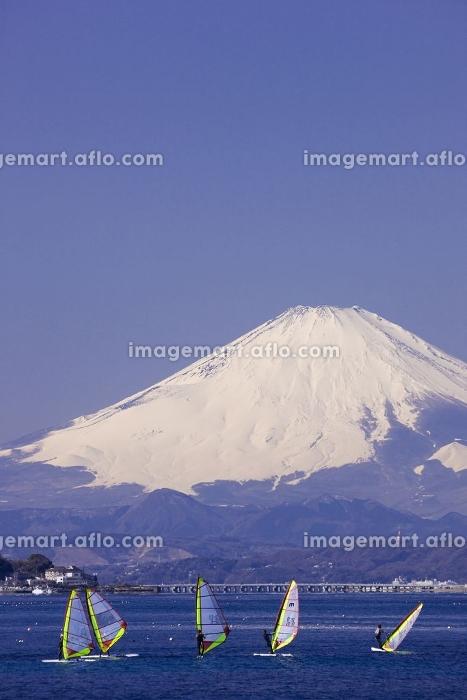 富士山とウインドーサーフィン