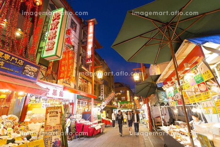 神戸南京町中華街夜景