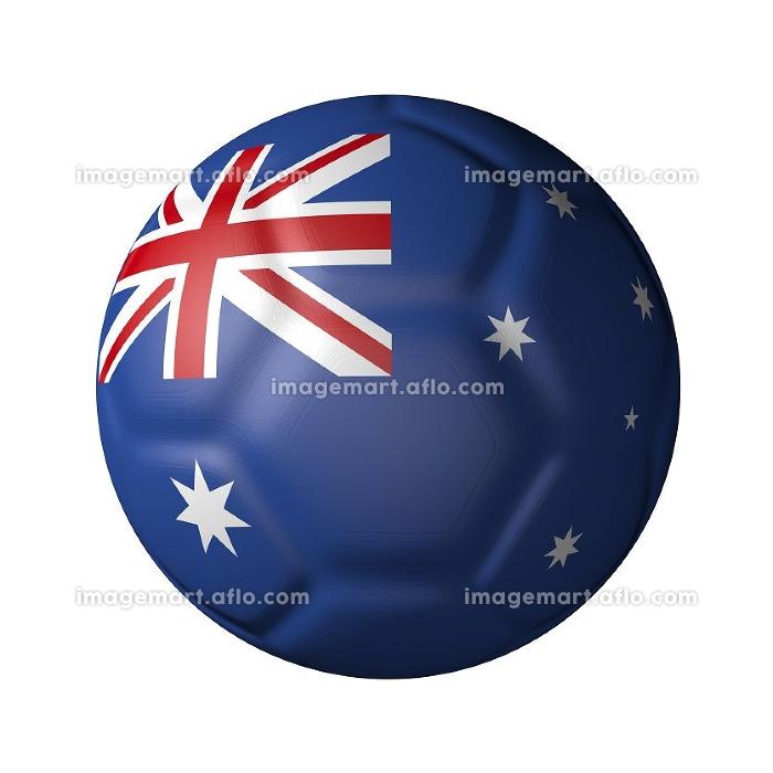 オーストラリアのサッカーボール型国旗の販売画像