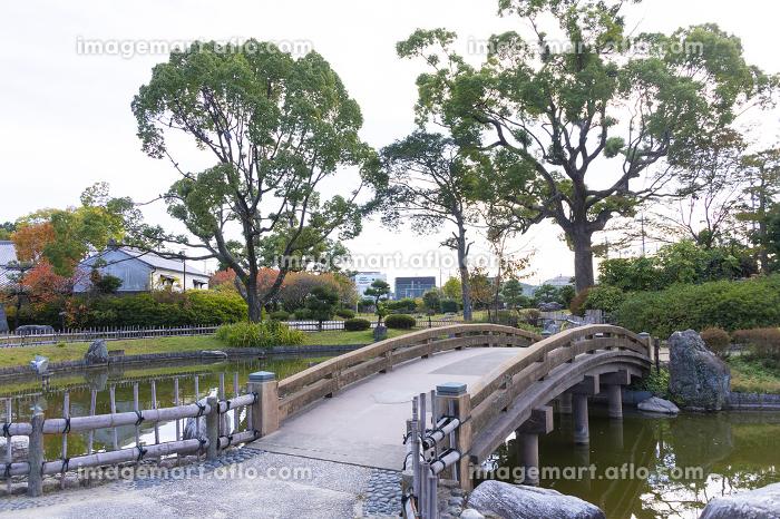 高槻城跡の太鼓橋と堀の販売画像