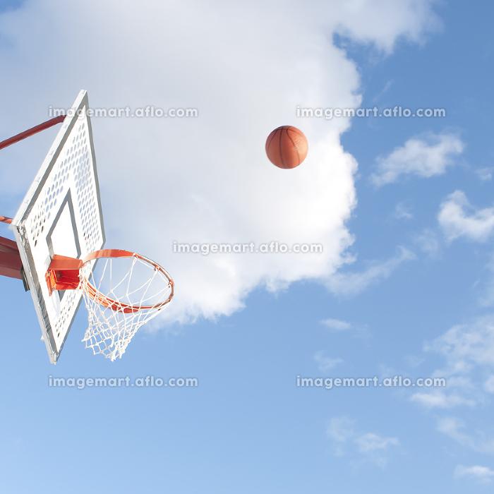 バスケットボールとゴールの販売画像