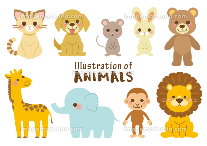 動物イラストセットの販売画像
