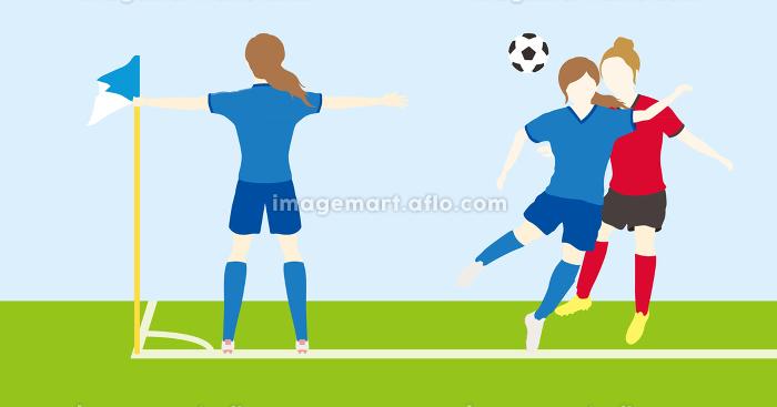 サッカーをする女性シンプルセット03の販売画像