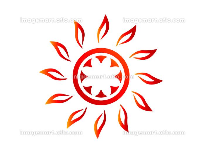 夏の灼熱の太陽 シンボル アイコンの販売画像