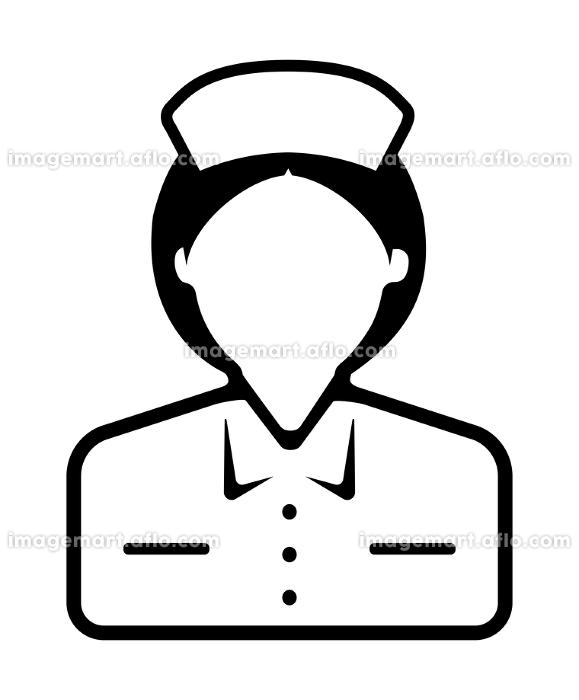 シルエット人物 ベクターアバターイラスト / ナース・看護婦・看護士・医療従事者の販売画像