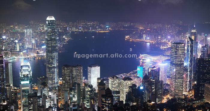 Victoria Peak, Hong Kong 06 November 2018:- Hong Kong city at night