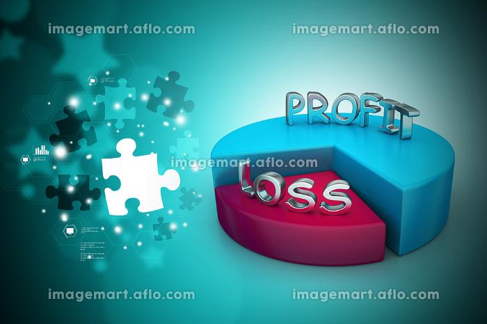 profit and losses pie chartの販売画像