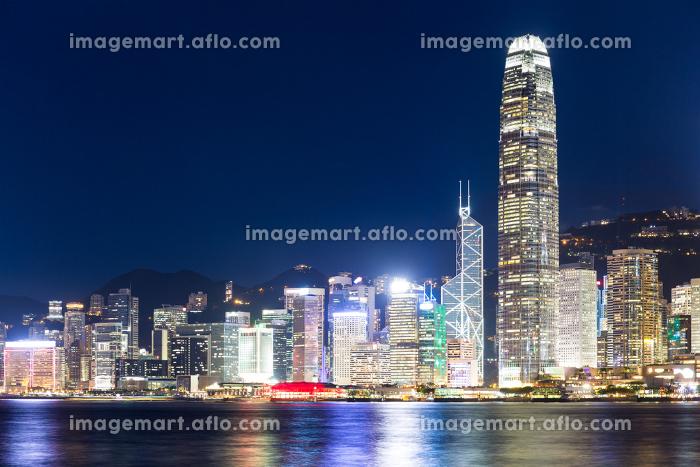 Hong Kong skyline at nightの販売画像
