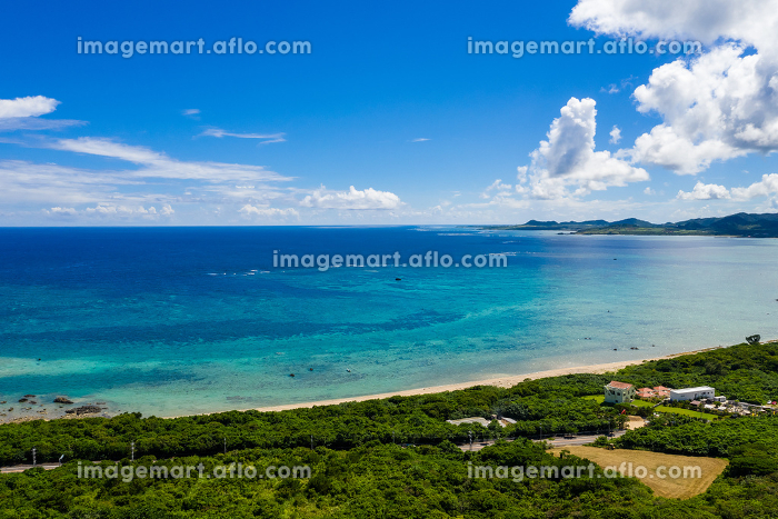 Aerial view of ishigaki islandの販売画像