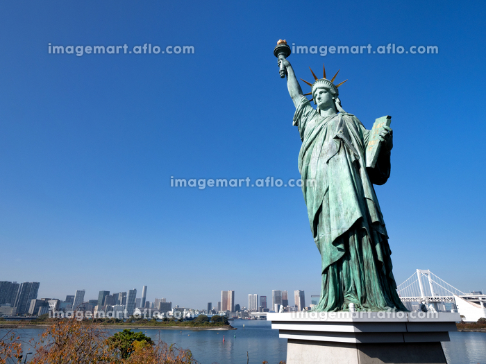 お台場の自由の女神像 東京都の販売画像