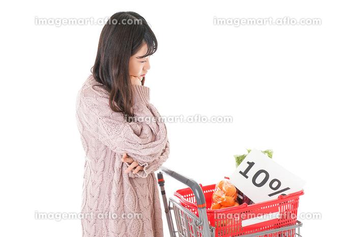 消費税増税・ショッピングイメージの販売画像