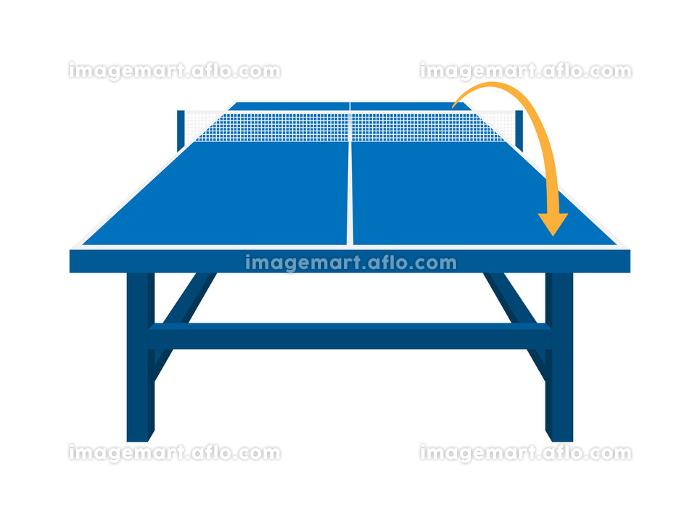卓球台のコースを指示したイラストの販売画像