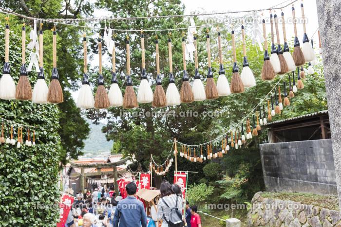 参道の筆飾り 筆祭 [広島県熊野町]の販売画像