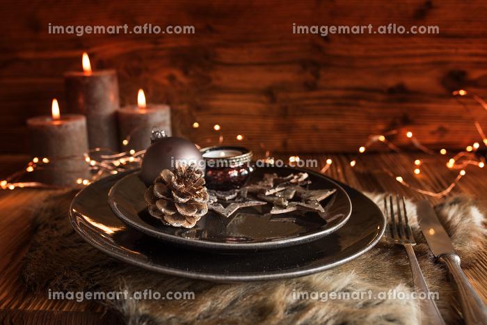 Festive christmas table settingの販売画像