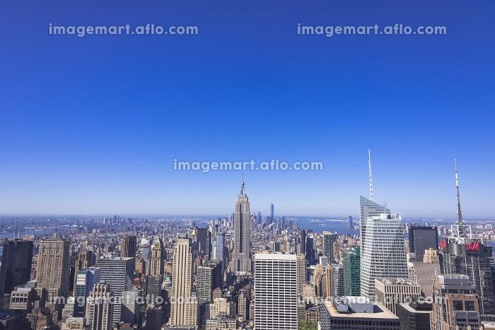 ニューヨーク トップ・オブ・ザ・ロック展望台よりミッドタウンの街並みの販売画像