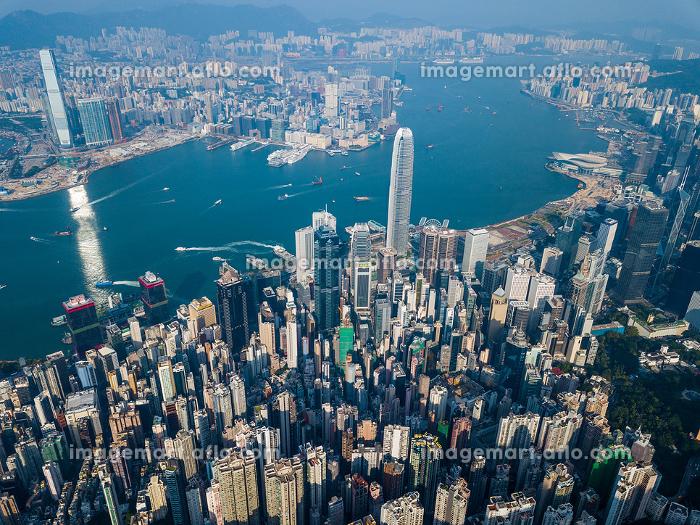 Victoria Peak, Hong Kong 3 November 2017:- Hong Kong cityの販売画像