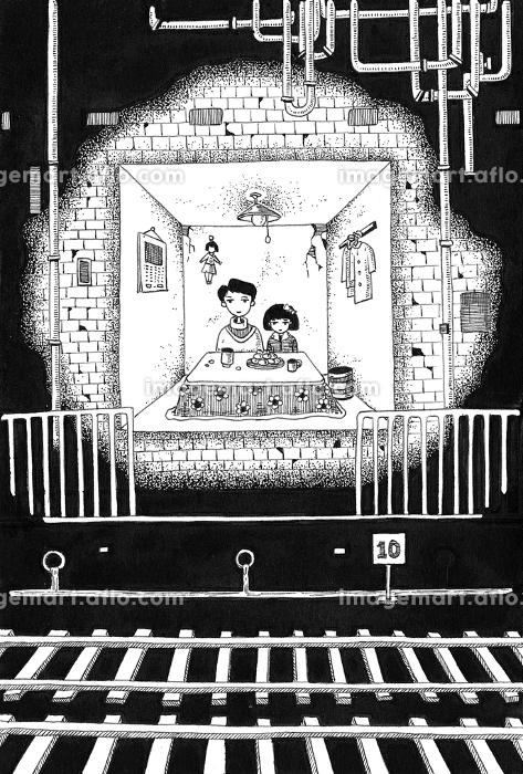 トンネルの中の団らんの販売画像
